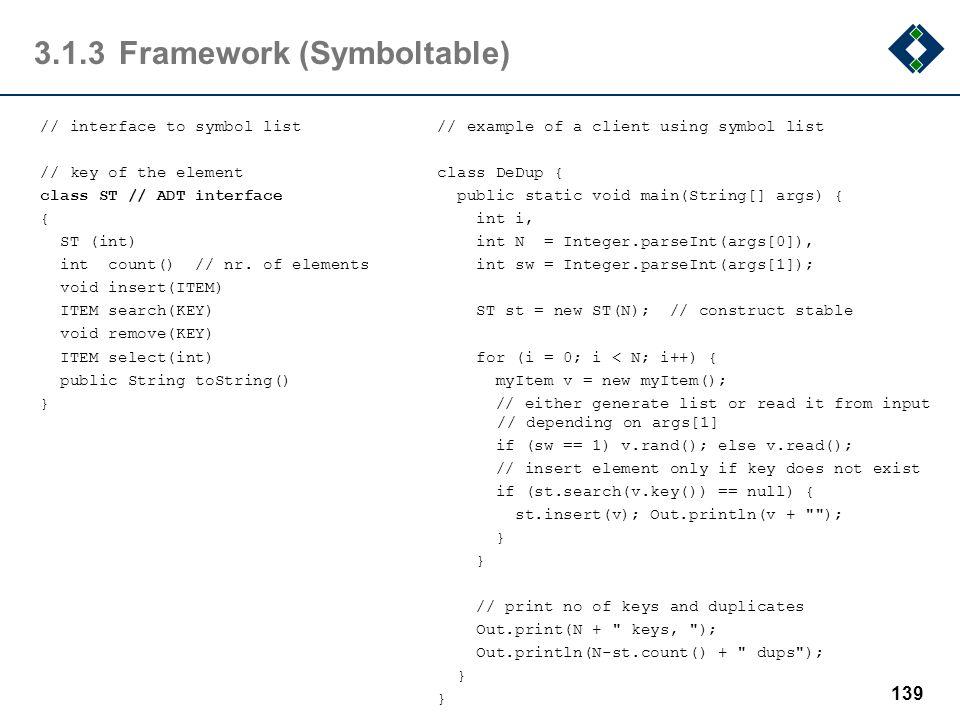 3.1.3 Framework (Symboltable)