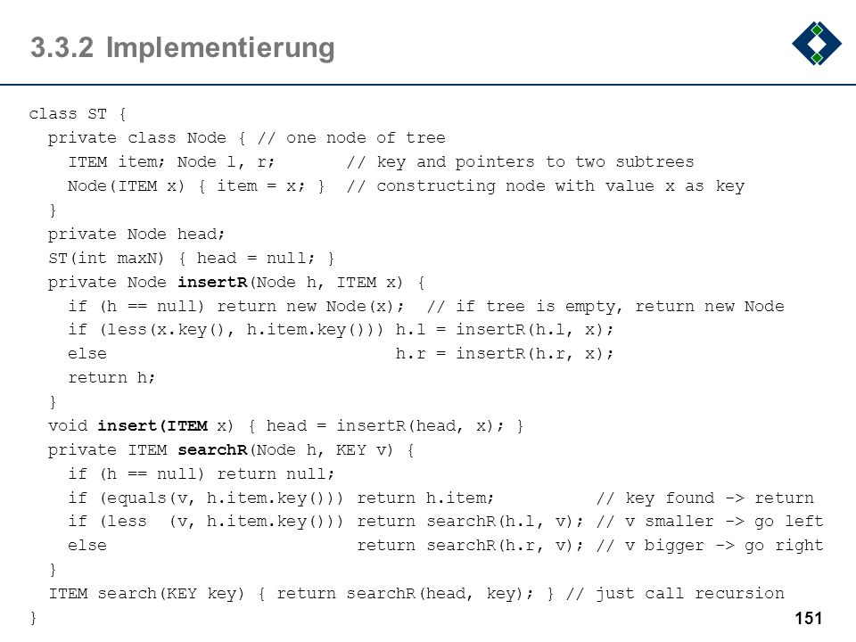 3.3.2 Implementierung
