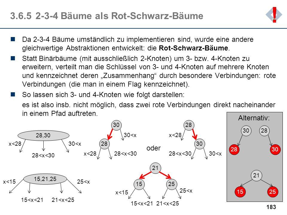3.6.5 2-3-4 Bäume als Rot-Schwarz-Bäume