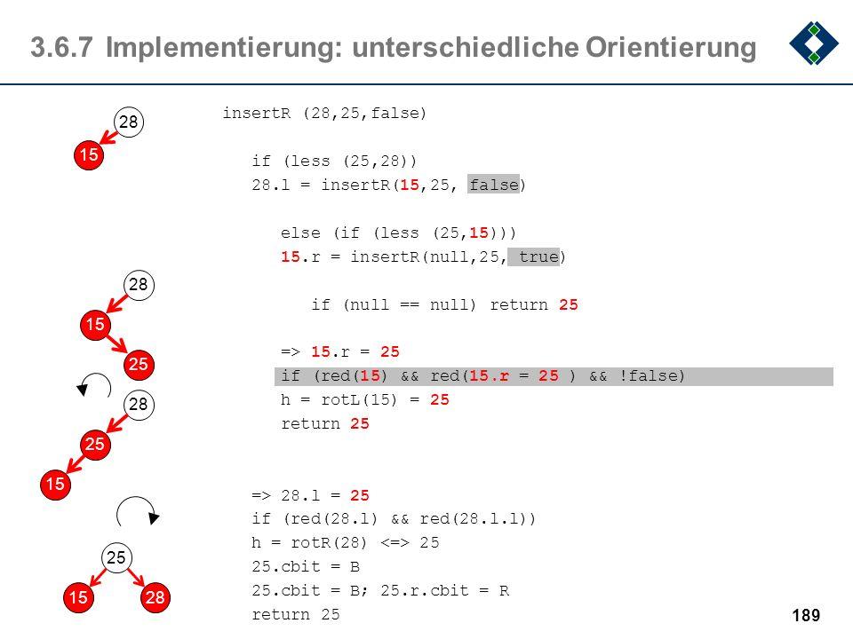 3.6.7 Implementierung: unterschiedliche Orientierung