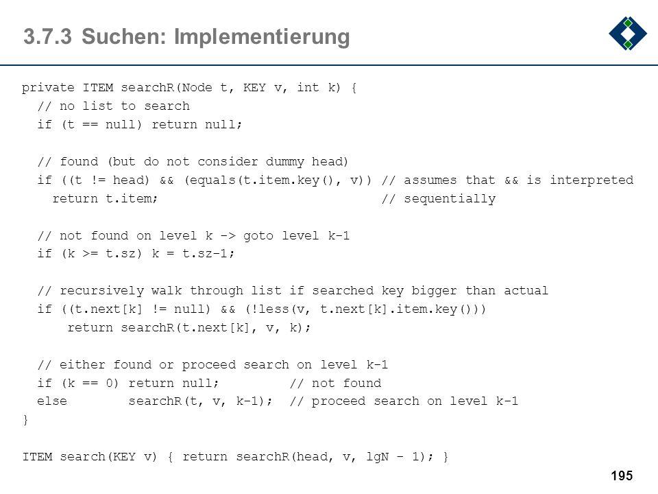 3.7.3 Suchen: Implementierung