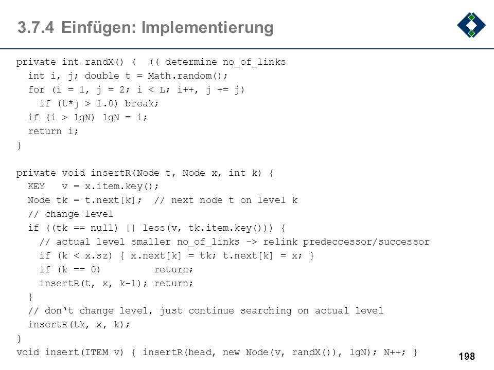 3.7.4 Einfügen: Implementierung