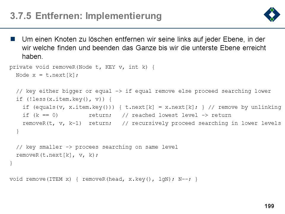 3.7.5 Entfernen: Implementierung