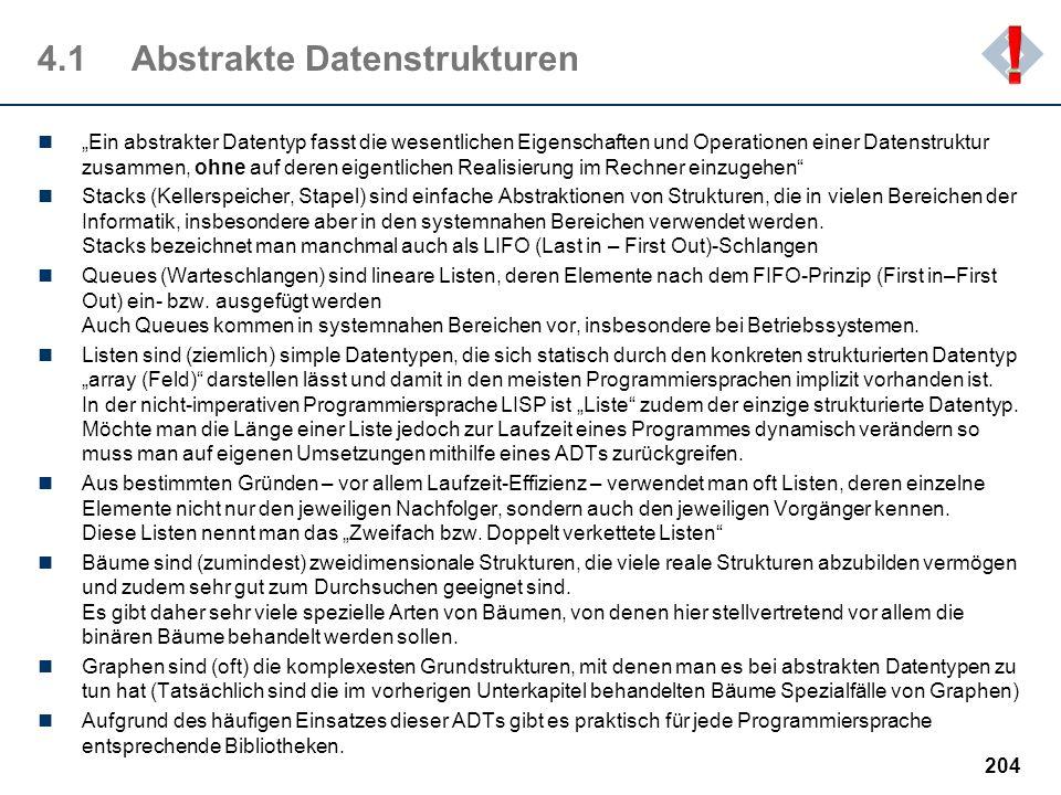 4.1 Abstrakte Datenstrukturen