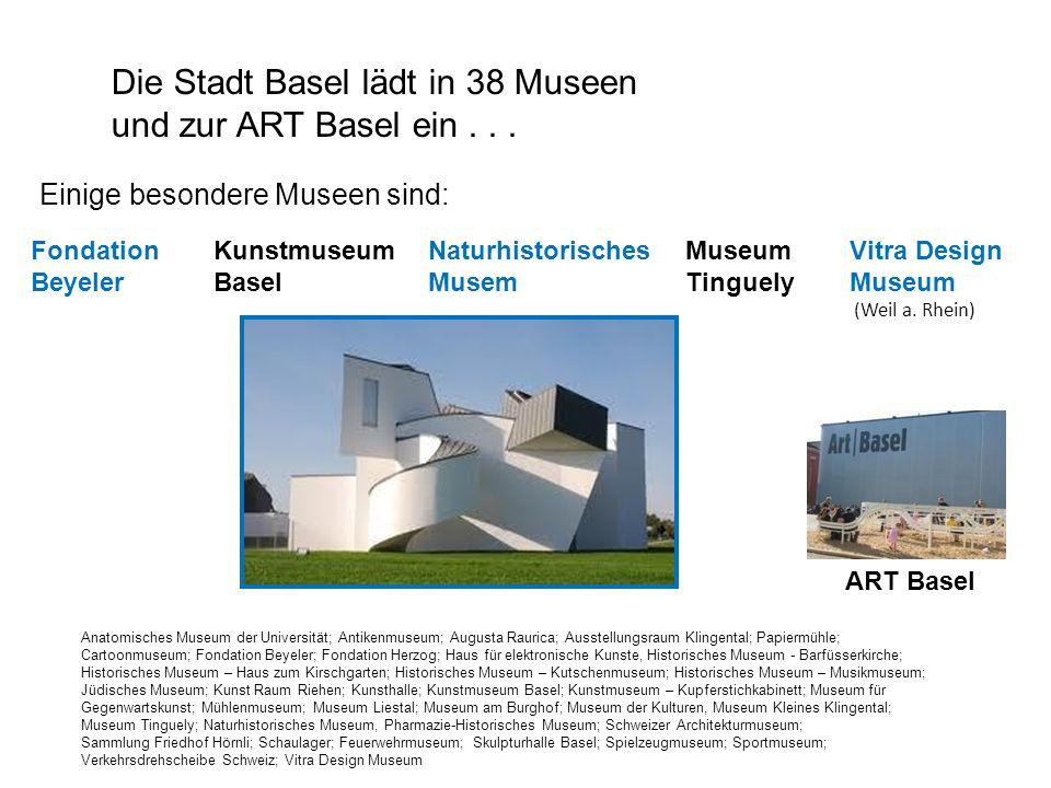 Die Stadt Basel lädt in 38 Museen und zur ART Basel ein . . .
