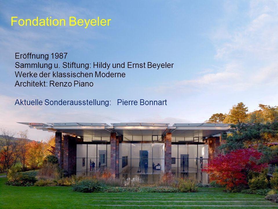 Fondation Beyeler Eröffnung 1987