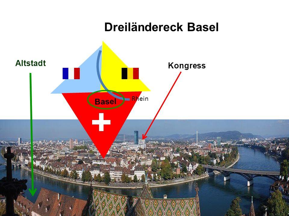 Dreiländereck Basel Basel Rhein Altstadt Kongress