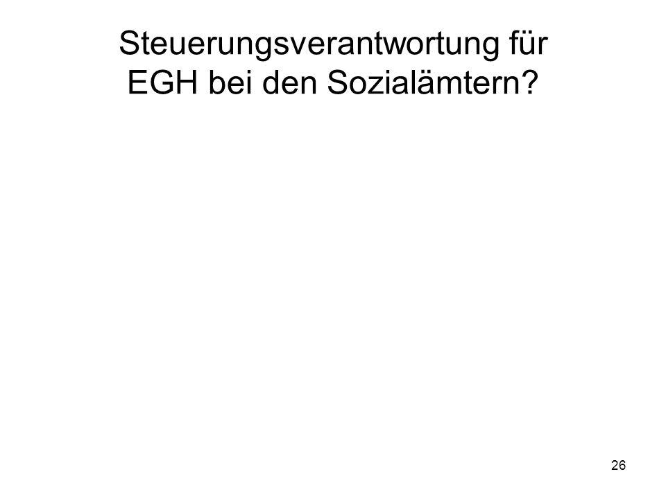 Steuerungsverantwortung für EGH bei den Sozialämtern