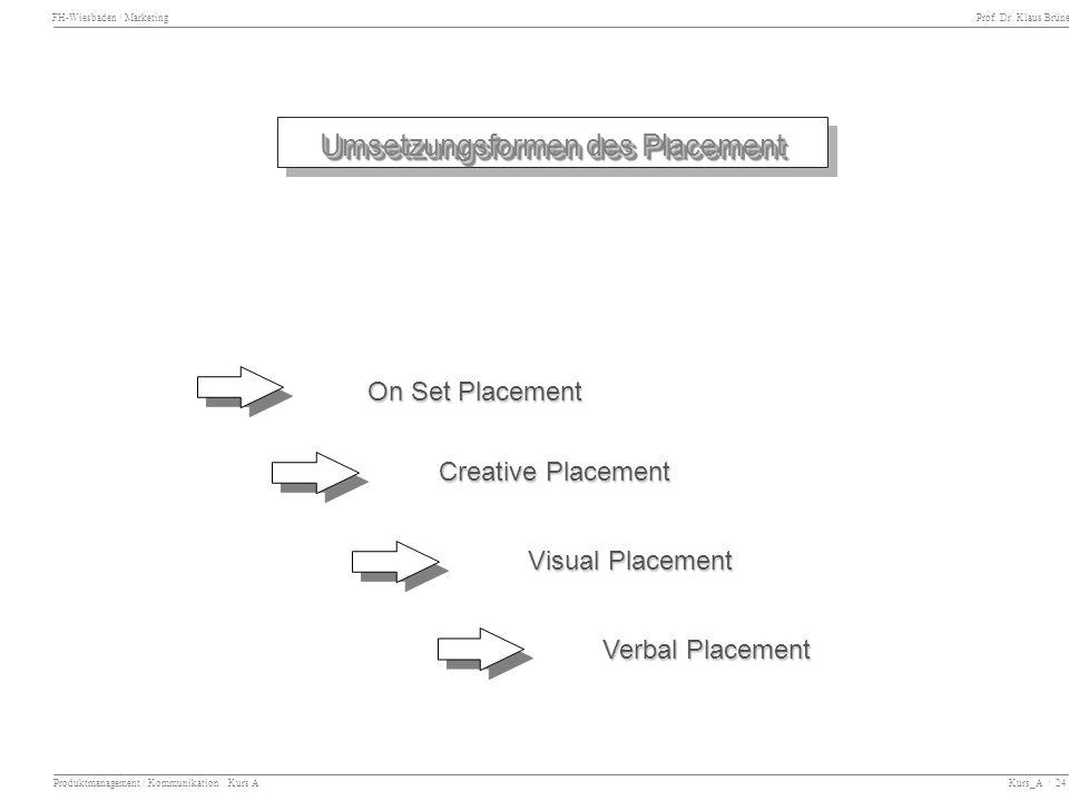 Umsetzungsformen des Placement