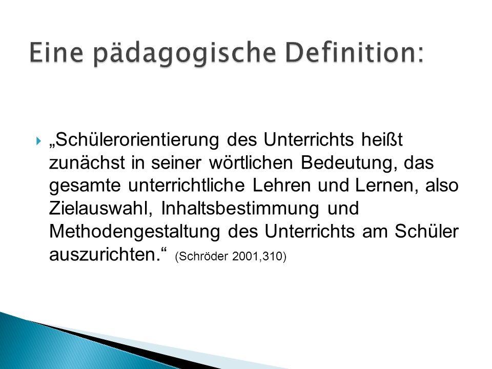 Eine pädagogische Definition: