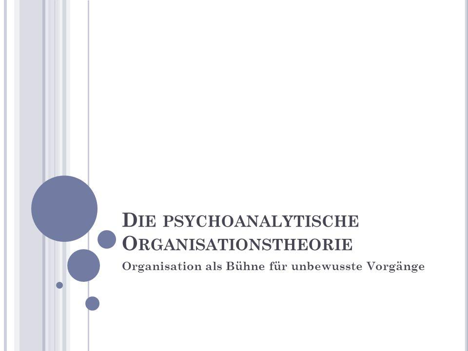 Die psychoanalytische Organisationstheorie