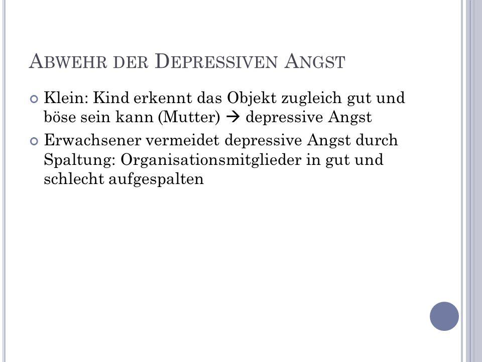 Abwehr der Depressiven Angst