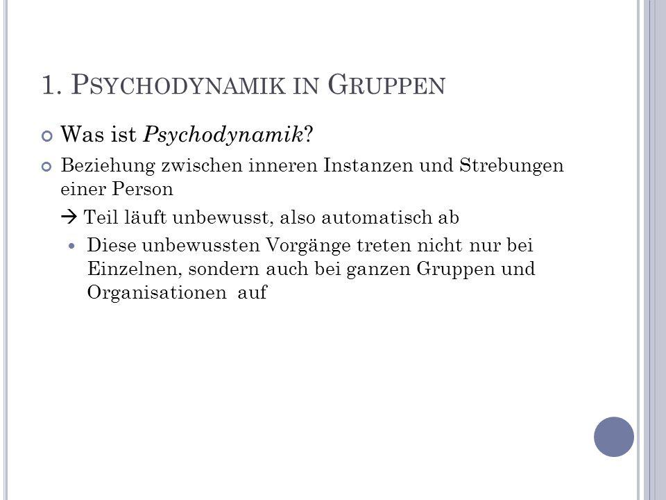 1. Psychodynamik in Gruppen