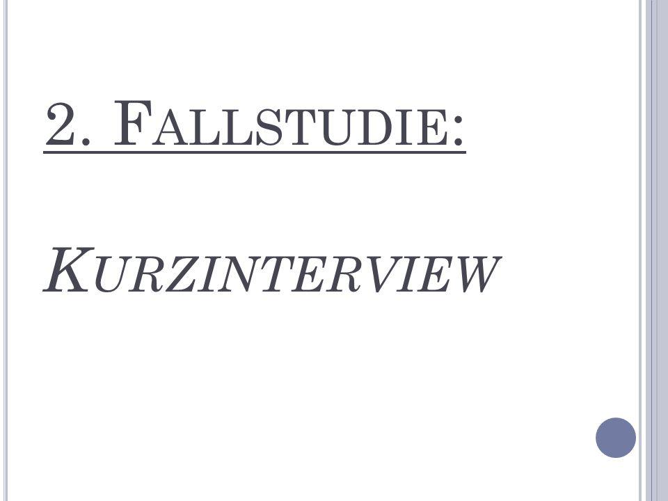 2. Fallstudie: Kurzinterview
