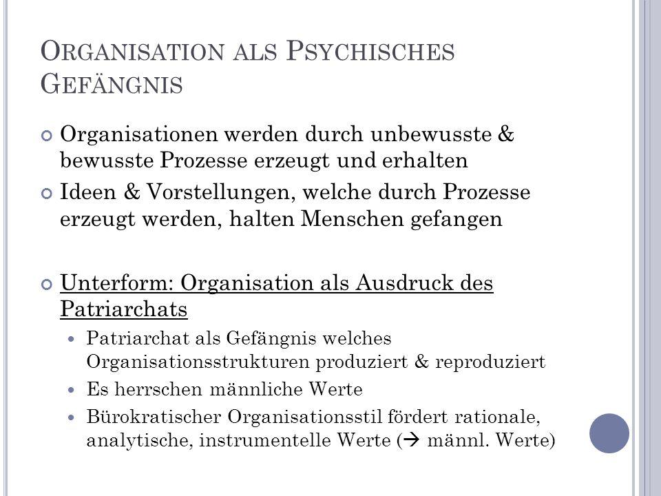 Organisation als Psychisches Gefängnis
