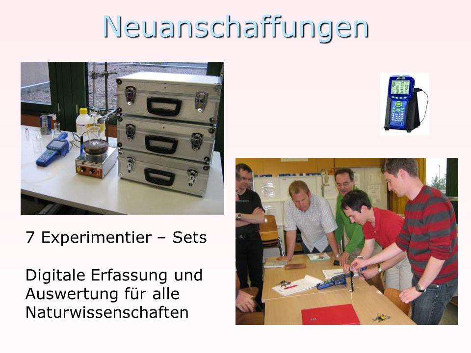 Neuanschaffungen 7 Experimentier – Sets Digitale Erfassung und