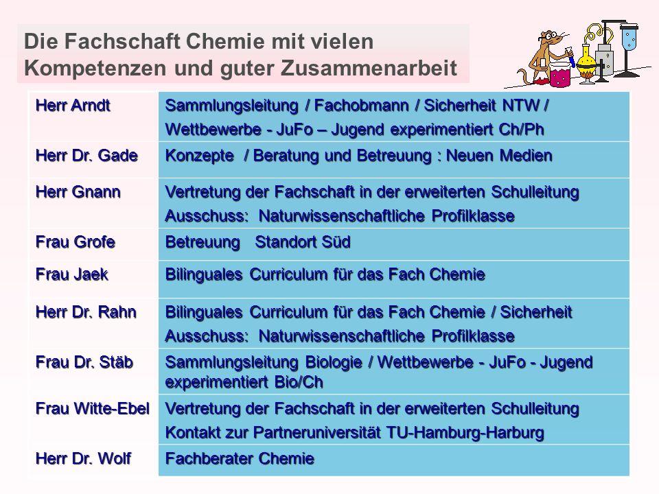 Die Fachschaft Chemie mit vielen Kompetenzen und guter Zusammenarbeit