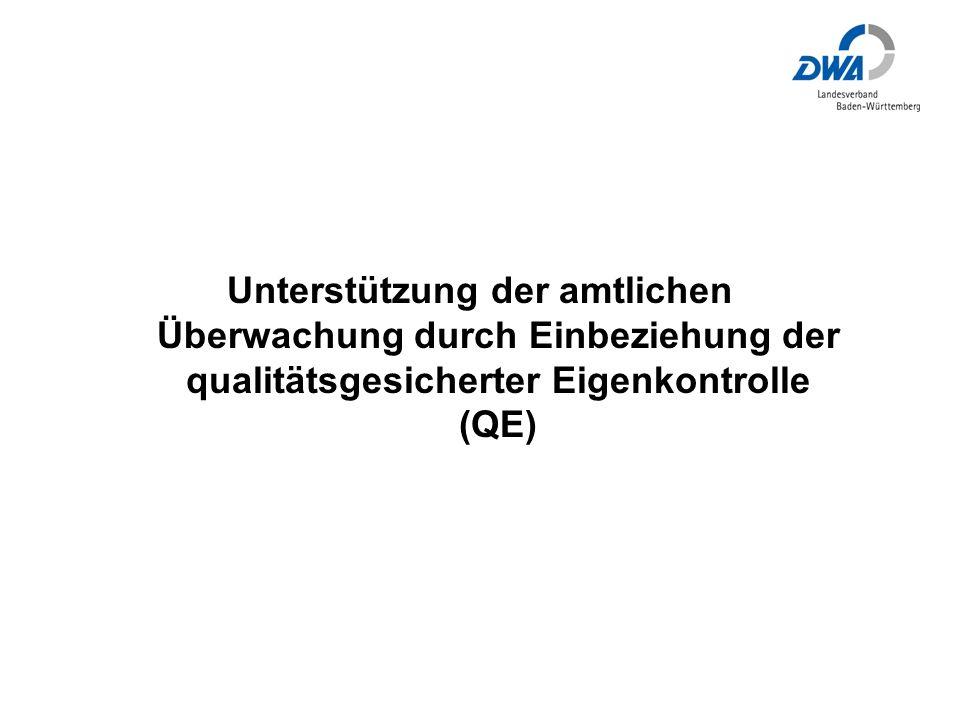 Unterstützung der amtlichen Überwachung durch Einbeziehung der qualitätsgesicherter Eigenkontrolle (QE)