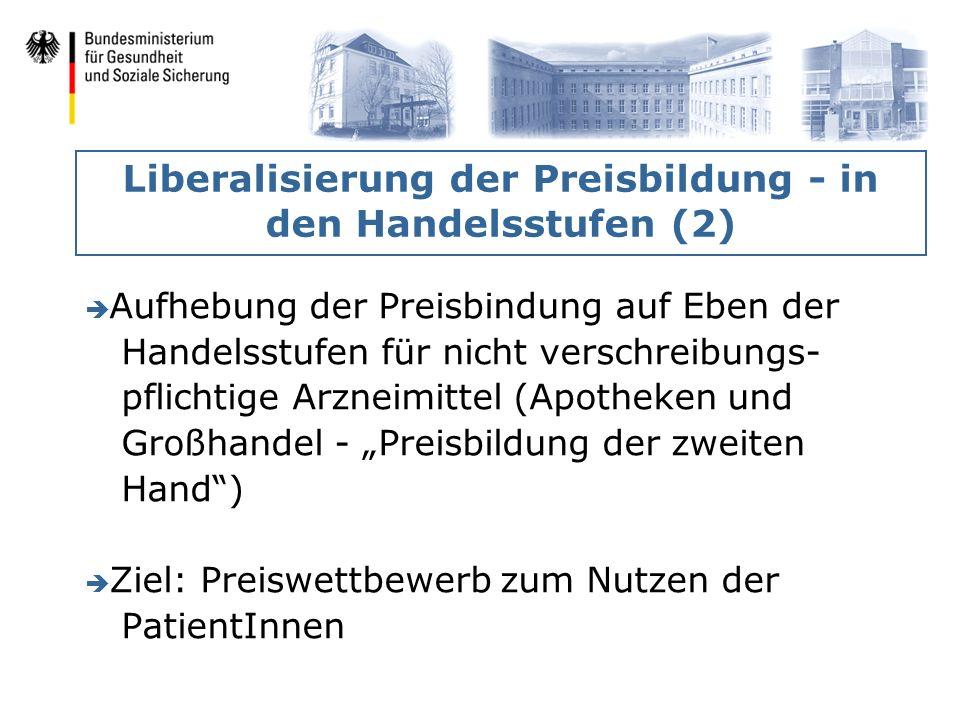 Liberalisierung der Preisbildung - in den Handelsstufen (2)