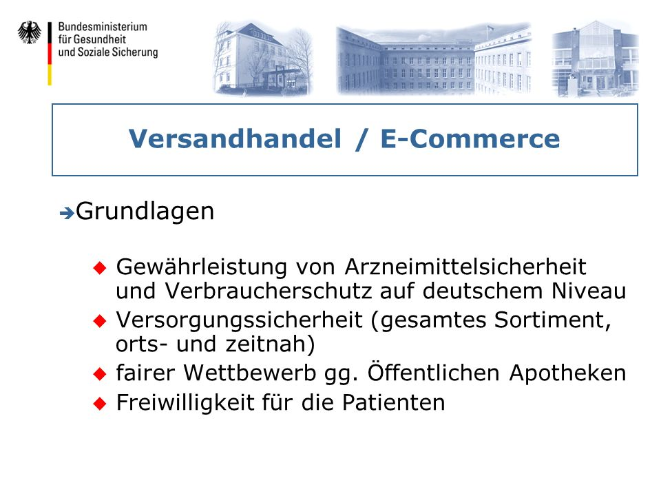 Versandhandel / E-Commerce