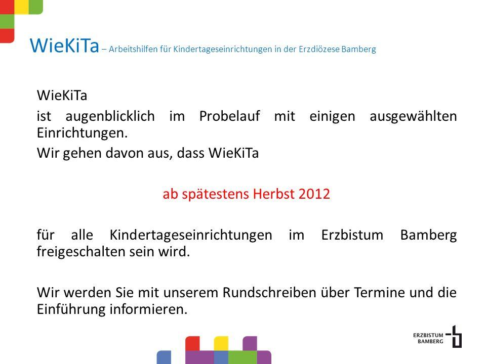 WieKiTa – Arbeitshilfen für Kindertageseinrichtungen in der Erzdiözese Bamberg