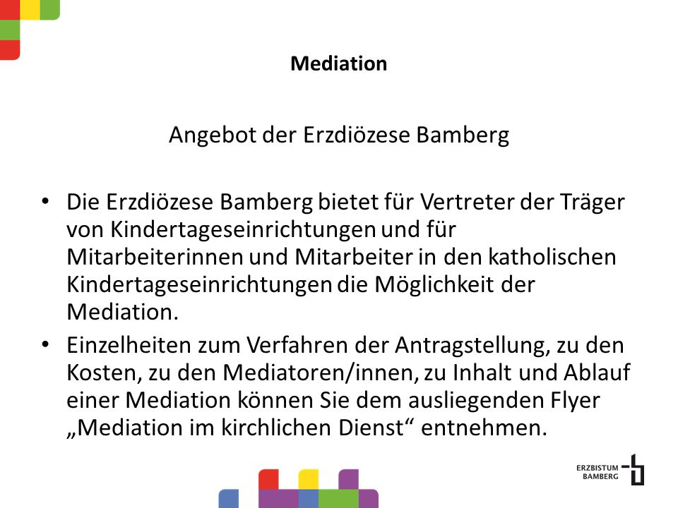 Angebot der Erzdiözese Bamberg