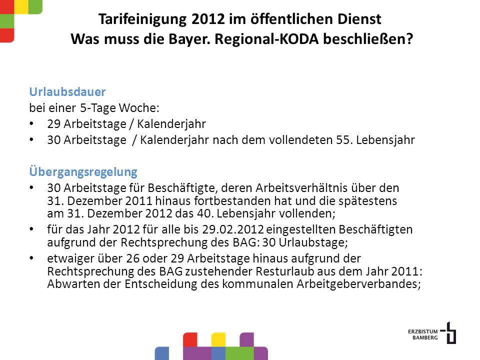 Tarifeinigung 2012 im öffentlichen Dienst Was muss die Bayer