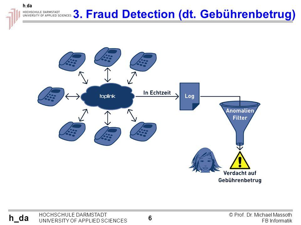 3. Fraud Detection (dt. Gebührenbetrug)