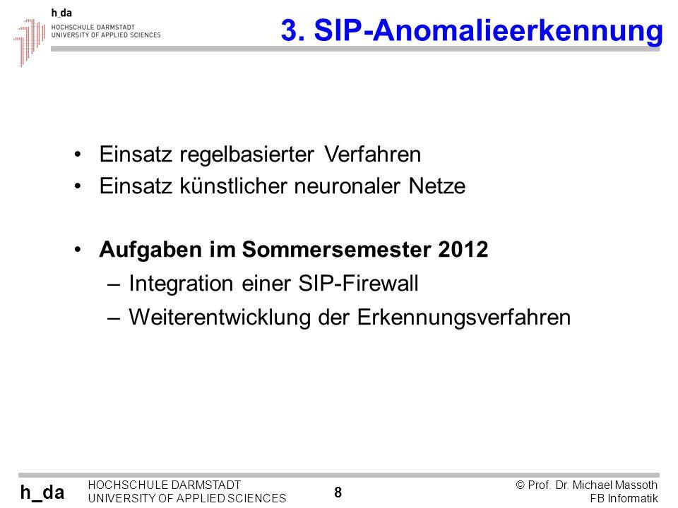 3. SIP-Anomalieerkennung