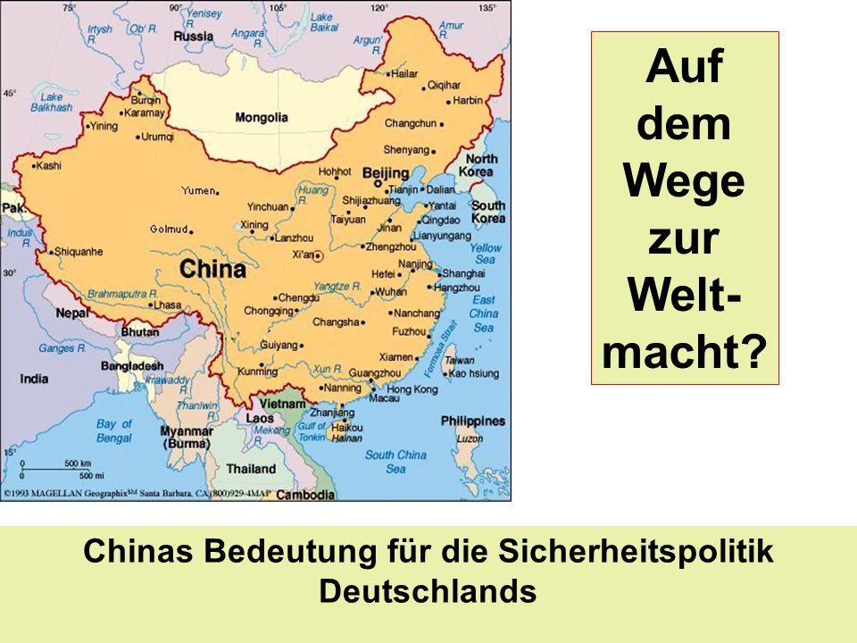 Chinas Bedeutung für die Sicherheitspolitik Deutschlands