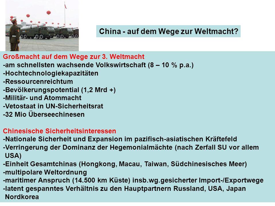 China - auf dem Wege zur Weltmacht