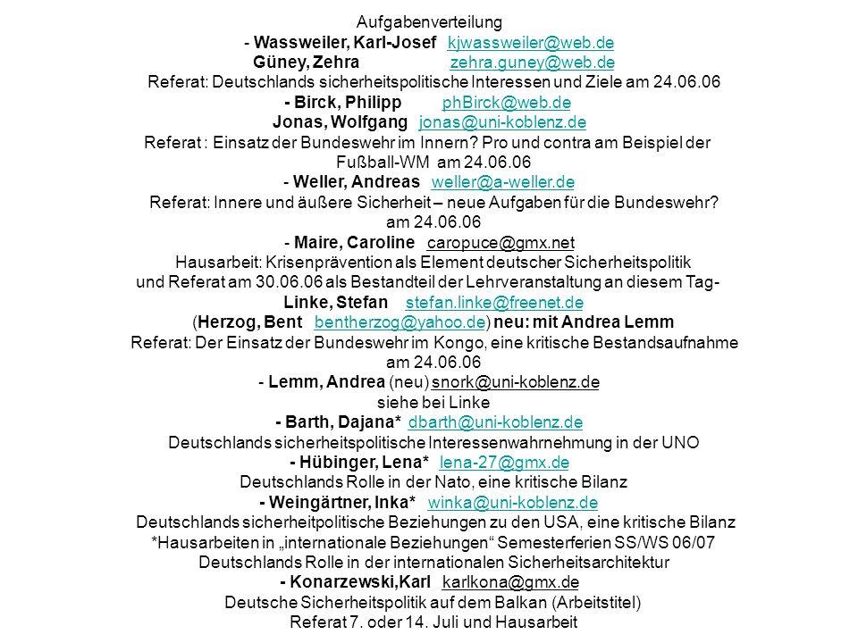 - Wassweiler, Karl-Josef kjwassweiler@web.de
