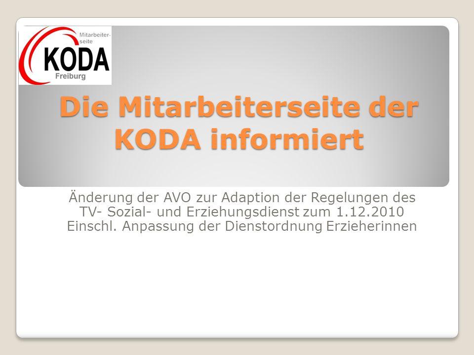 Die Mitarbeiterseite der KODA informiert