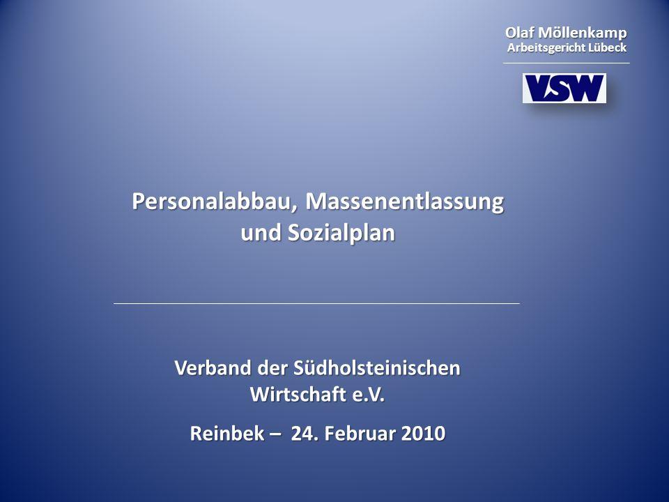 Personalabbau, Massenentlassung und Sozialplan