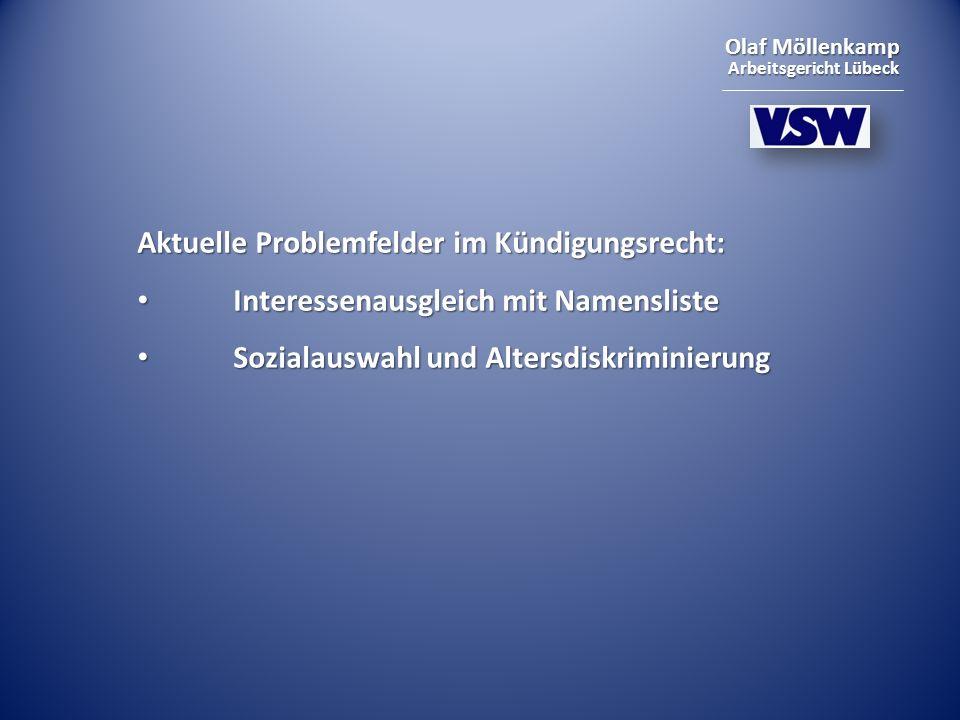 Aktuelle Problemfelder im Kündigungsrecht: