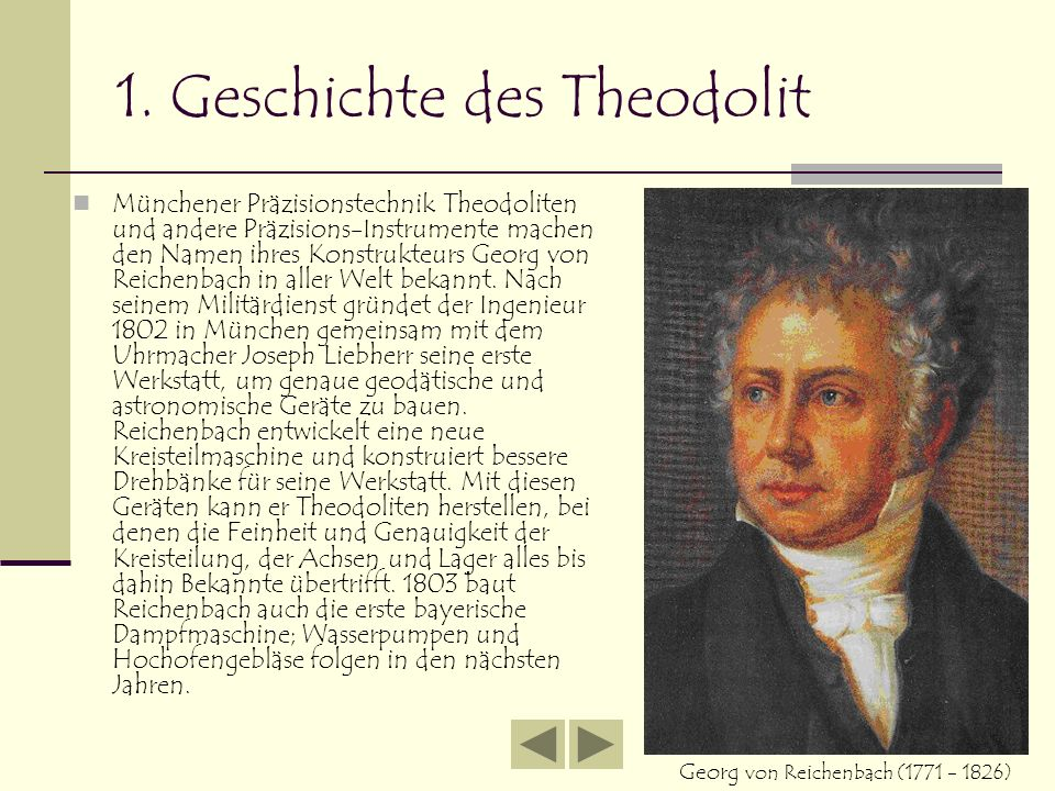 1. Geschichte des Theodolit