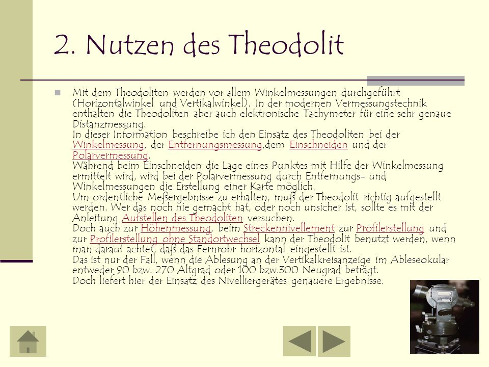 2. Nutzen des Theodolit