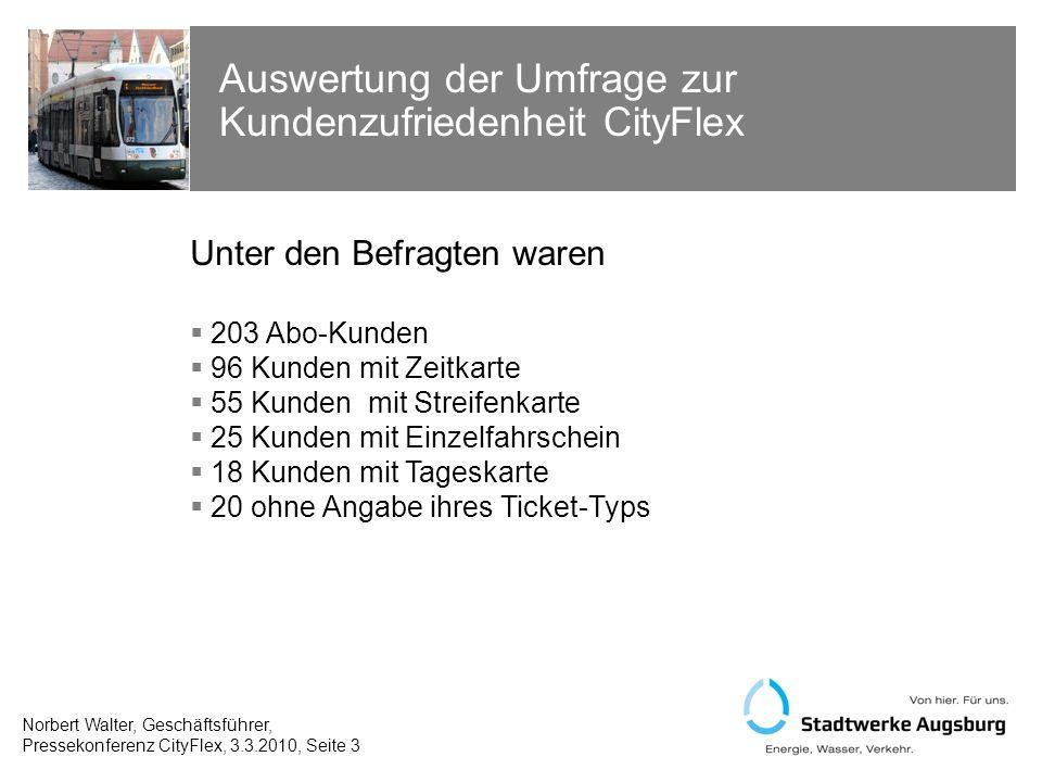 Auswertung der Umfrage zur Kundenzufriedenheit CityFlex