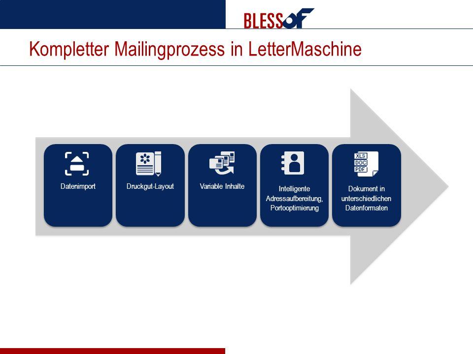 Kompletter Mailingprozess in LetterMaschine