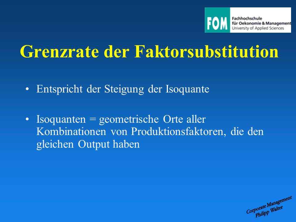 Grenzrate der Faktorsubstitution