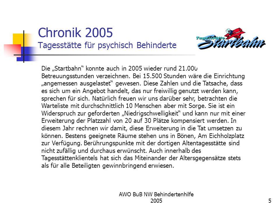 Chronik 2005 Tagesstätte für psychisch Behinderte