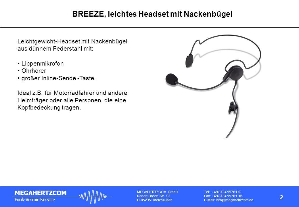 BREEZE, leichtes Headset mit Nackenbügel