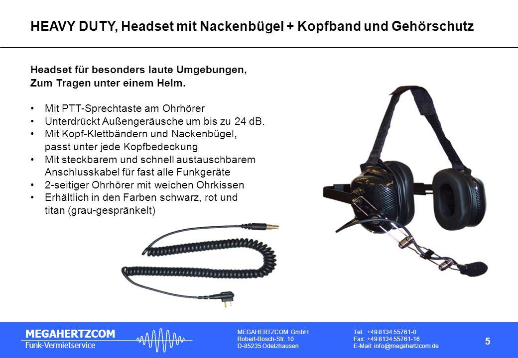 HEAVY DUTY, Headset mit Nackenbügel + Kopfband und Gehörschutz