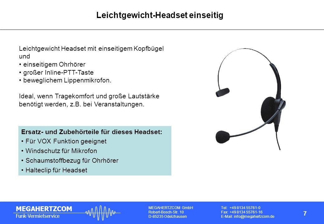 Leichtgewicht-Headset einseitig