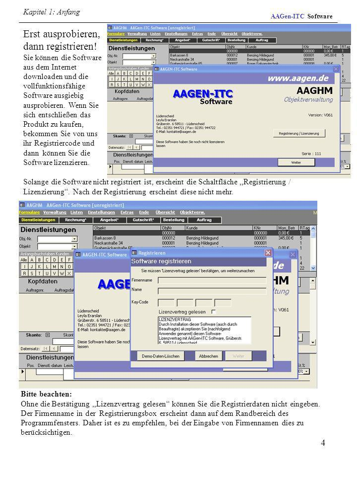 Kapitel 1: AnfangAAGen-ITC Software.