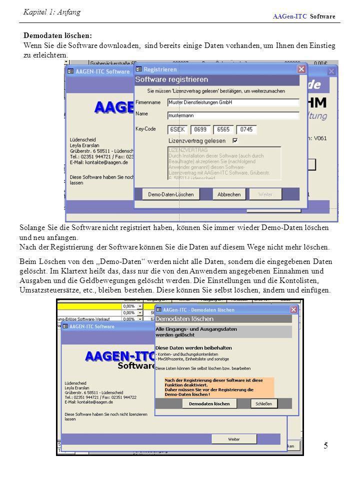 Kapitel 1: Anfang AAGen-ITC Software.