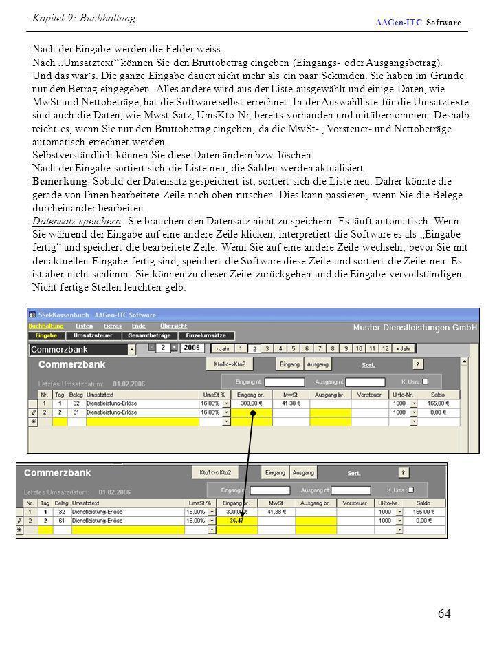 Kapitel 9: BuchhaltungAAGen-ITC Software.