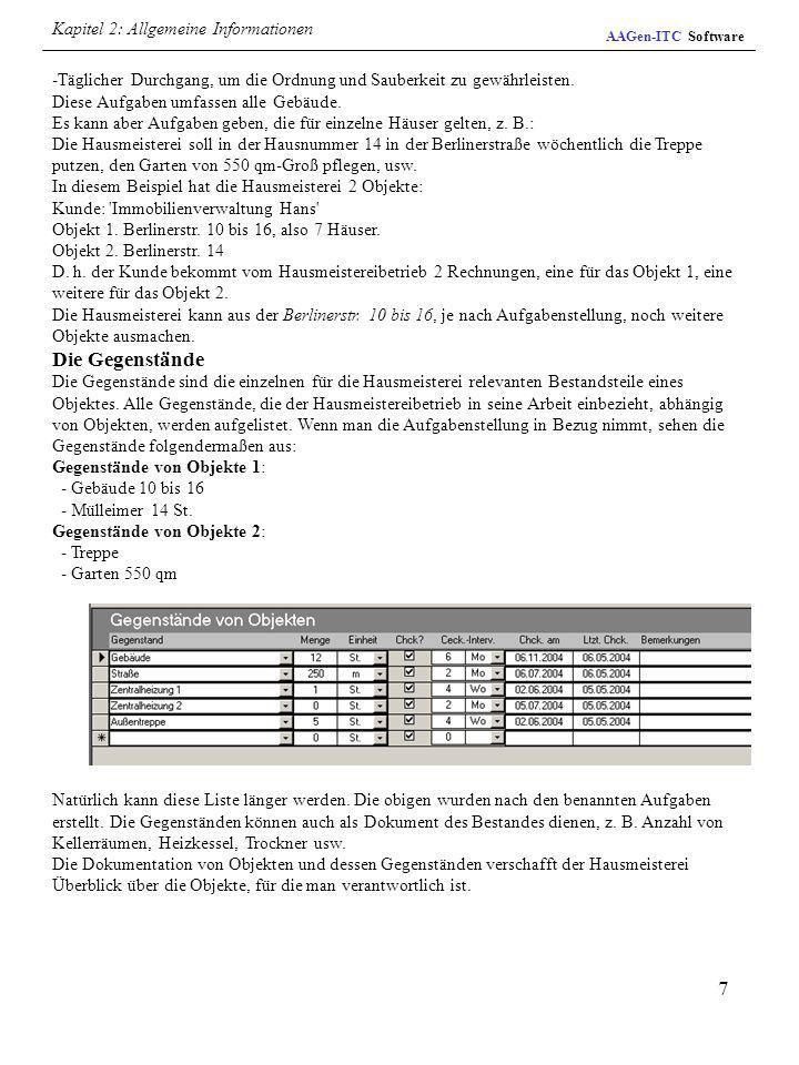 Kapitel 2: Allgemeine Informationen