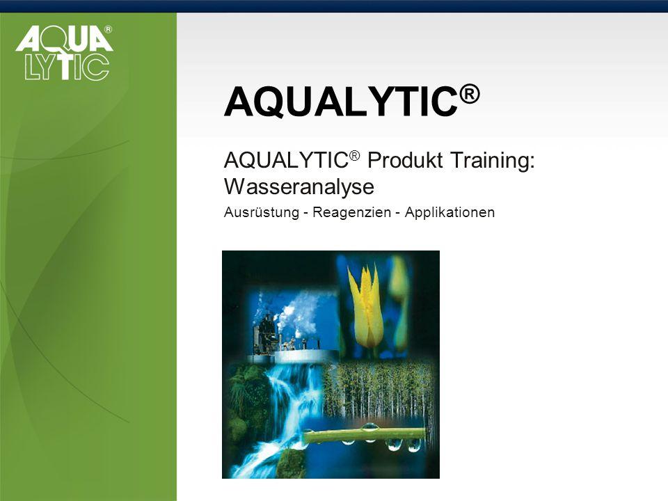 AQUALYTIC® AQUALYTIC® Produkt Training: Wasseranalyse