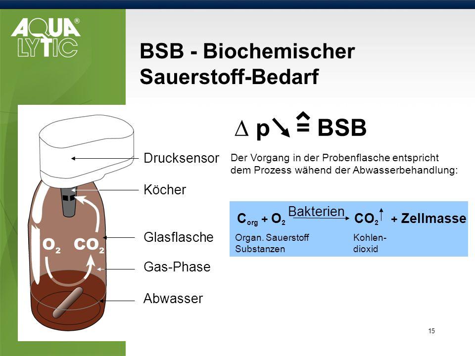 BSB - Biochemischer Sauerstoff-Bedarf